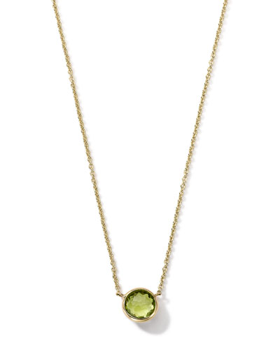 18K Gold Mini-Lollipop Birthstone Necklace (August), 16-18