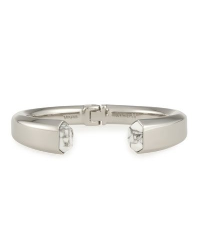 Obsedia Stone Bracelet, Silver Plate