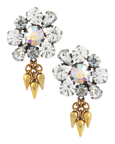 Lana Flower Crystal Stud Earrings