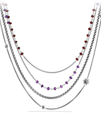 Starburst Chain Necklace with Amethyst and Garnet