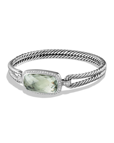 Albion Bracelet with Prasiolite and Diamonds