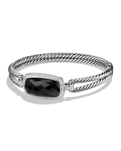 Albion Bracelet with Black Onyx and Diamonds