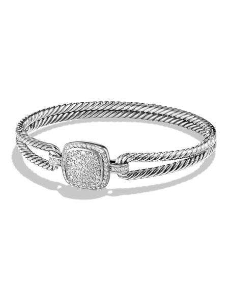 David Yurman Albion Bracelet with Diamonds, Size Medium