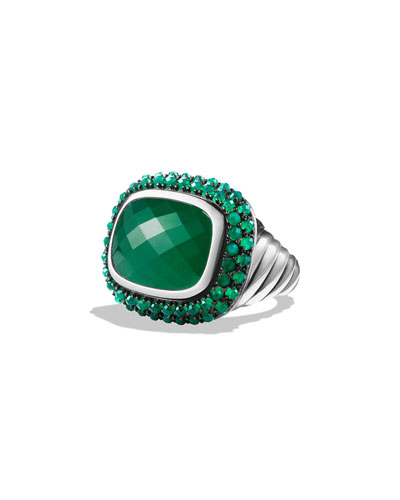 Osetra Ring with Green Onyx