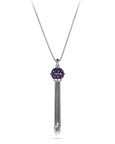 Osetra Tassel Necklace with Amethyst