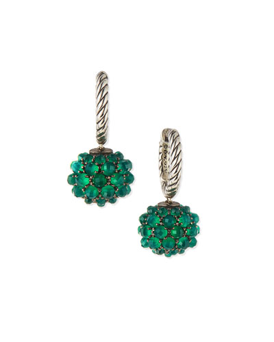 Osetra Earrings with Green Onyx