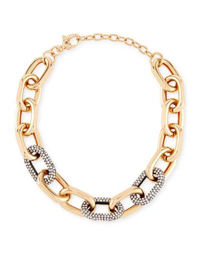 Pave Crystal Link Necklace