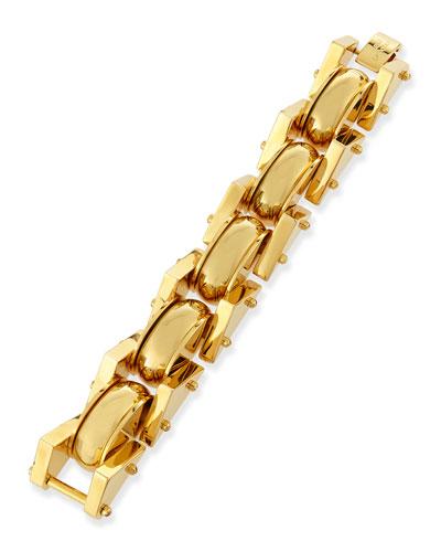 24k Gold-Plated Satellite Link Bracelet