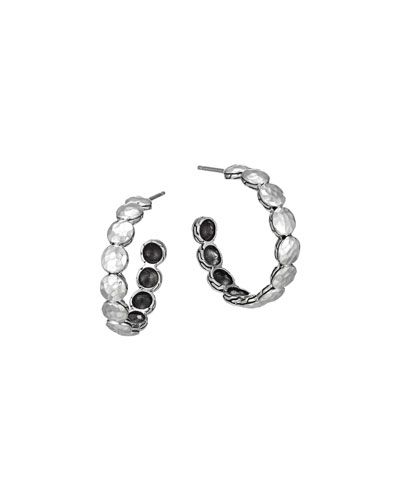 Palu Silver Disc Small Hoop Earrings
