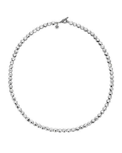 Palu Silver Disc Necklace, 6mm