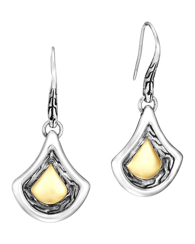 Naga Gold & Silver Drop Earrings