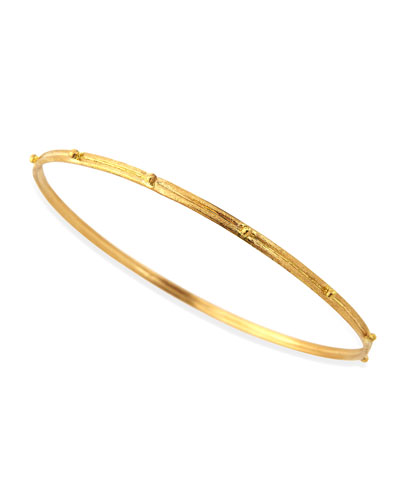 18k Gold Granulated Bangle