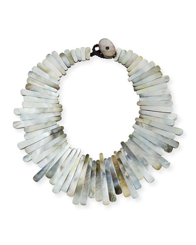 Mother-of-Pearl Statement Collar