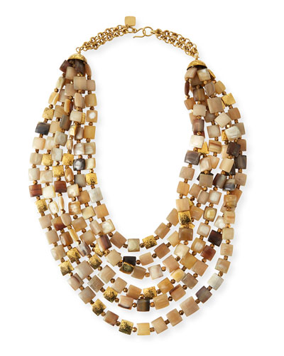 Kila Light Horn Multi-Strand Necklace