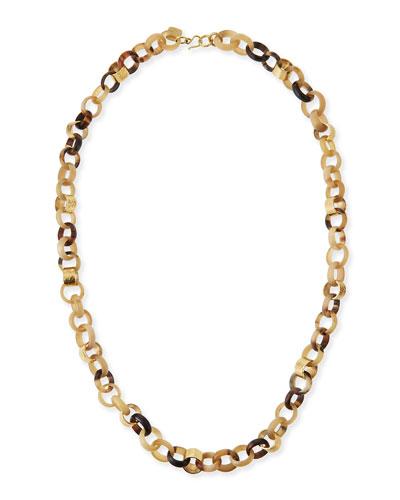 Jinsi Light Horn Long Necklace