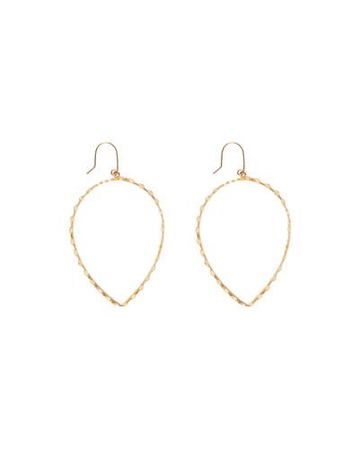 14k Small Glam Pear-Shape Hoop Earrings