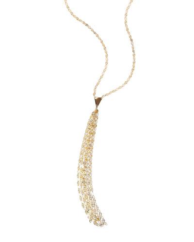 14k Long Blake Tassel Necklace