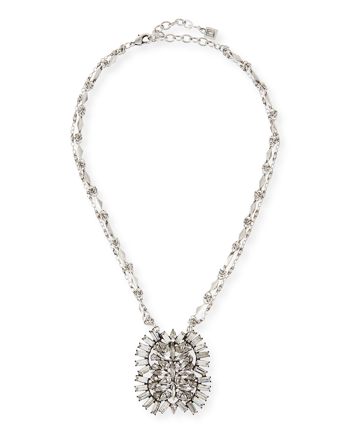 Lila Crystal Pendant Necklace