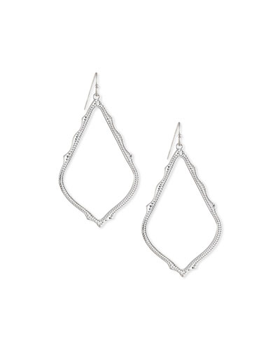 Sophee Earrings, Rhodium Plate