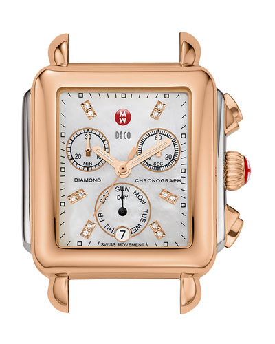 Deco Diamond Two-Tone Watch Head