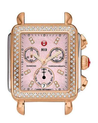 Deco Diamond Two-Tone Watch Head