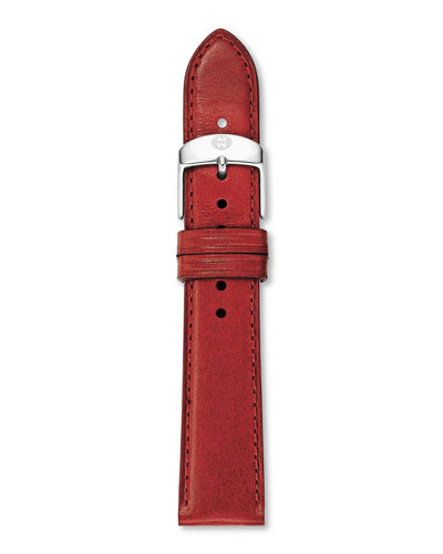 16mm Patent Leather Strap, Red
