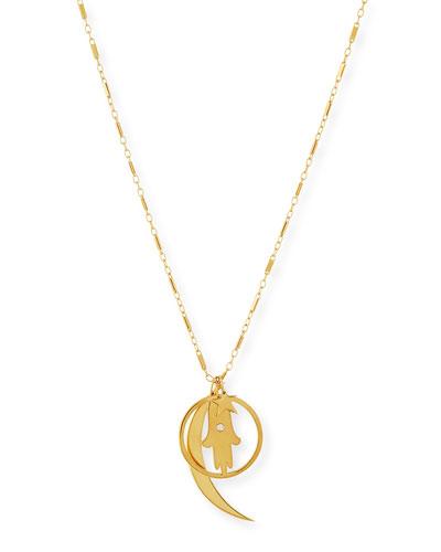 Cherie Gold Vermeil Long Charm Necklace