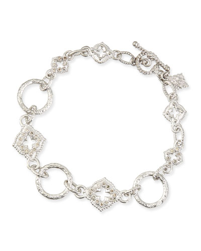 New World Sculpted Diamond Link Bracelet