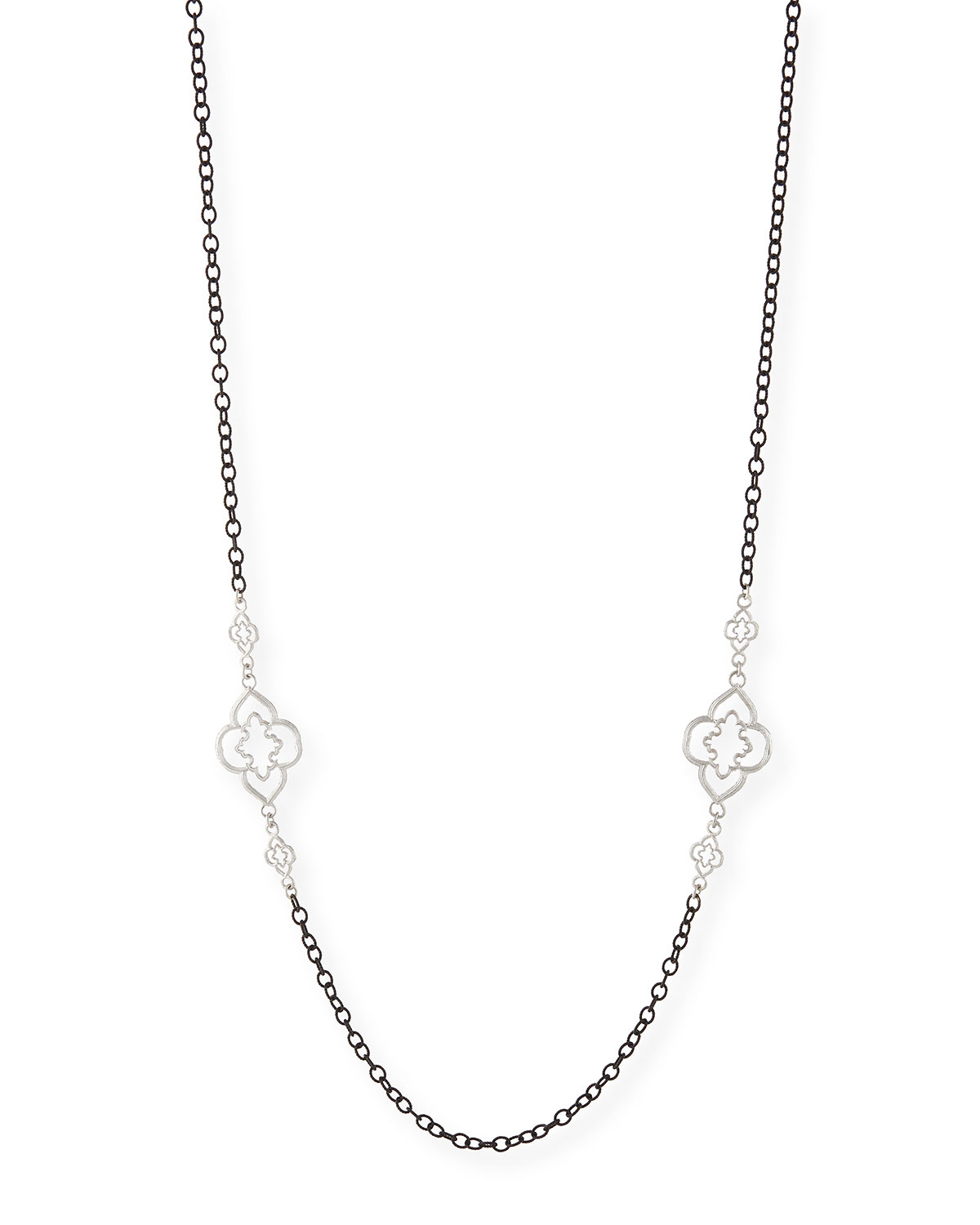 Heraldry Scroll Cable Chain Necklace