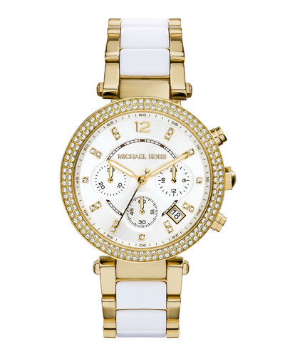 Parker Golden Stainless Steel Glitz Watch