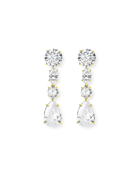 Fantasia by DeSerio CLEAR DROP EARRING