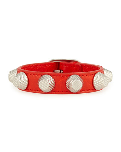 Giant 12 Leather Bracelet with Studs