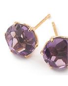 18k Rock Candy Amethyst Stud Earrings