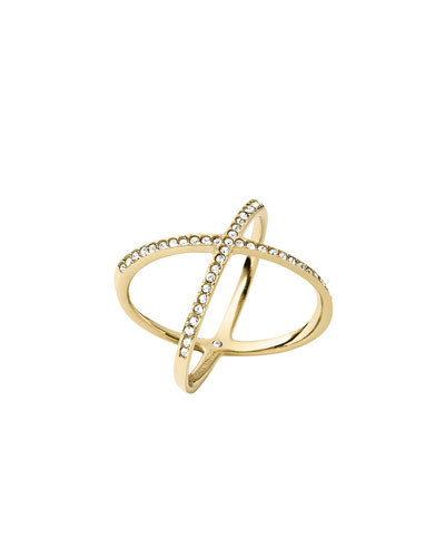 ROSE GOLD TONE/DIA, X RING