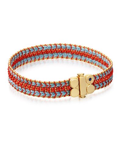 Biography Wide Woven Bracelet, Coral Reef