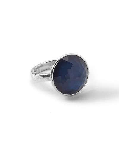 Wonderland Silver Midnight Ring