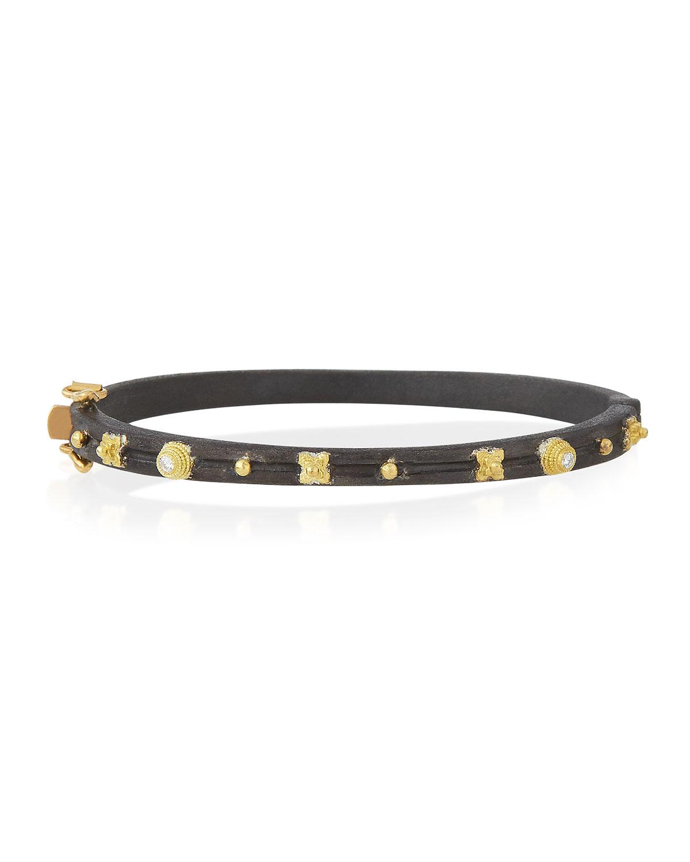 Midnight Diamond Huggie Bracelet