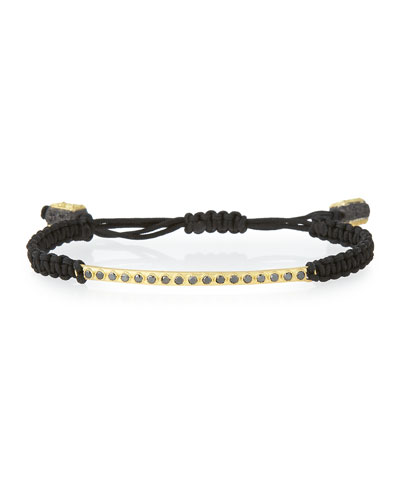18k Black Diamond Bar Bracelet