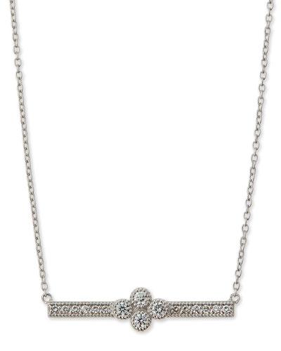 White Gold Provence Bar Pendant Necklace