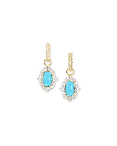 Moroccan Turquoise Diamond Earring Charms