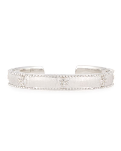Silver Narrow Beaded Maltese Cuff