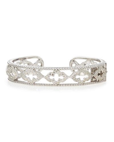 Silver Open Narrow Moroccan Cuff