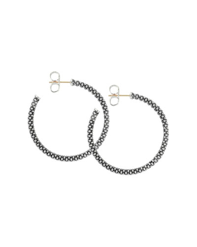 Thin Caviar Hoop Earrings