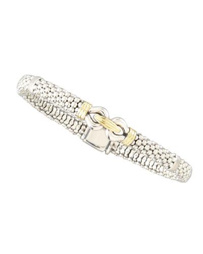Derby Silver & Gold Bracelet, 6mm