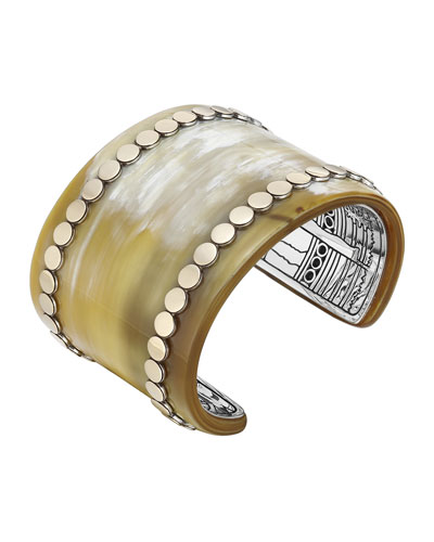 Dot Buffalo Horn Wide Cuff