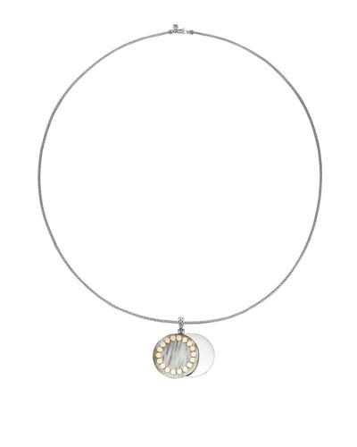Dot Large Horn Locket Pendant Necklace