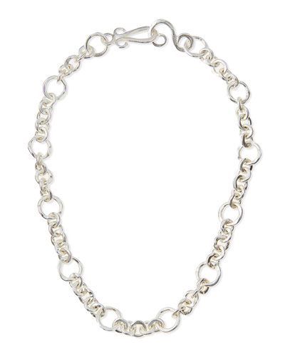 Silver-Plated Coronation Chain Necklace, 18