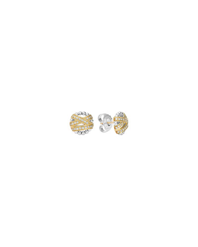 Embrace Round Diamond Stud Earrings