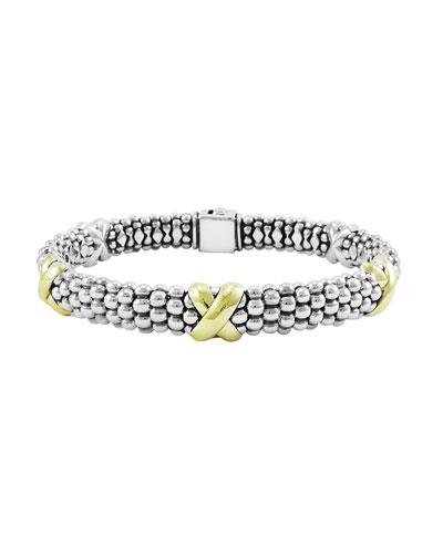 Caviar Gold & Silver X-Station Bracelet