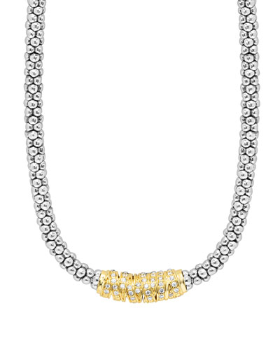Embrace Diamond Station Necklace, 16
